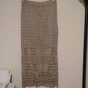 Chico's knitted maxi skirt